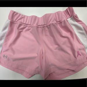 Under Armpur Breast Cancer Awareness Shorts